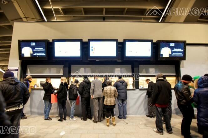 Le digital signage d'Armagard au tournoi de football de l'euro 2012.