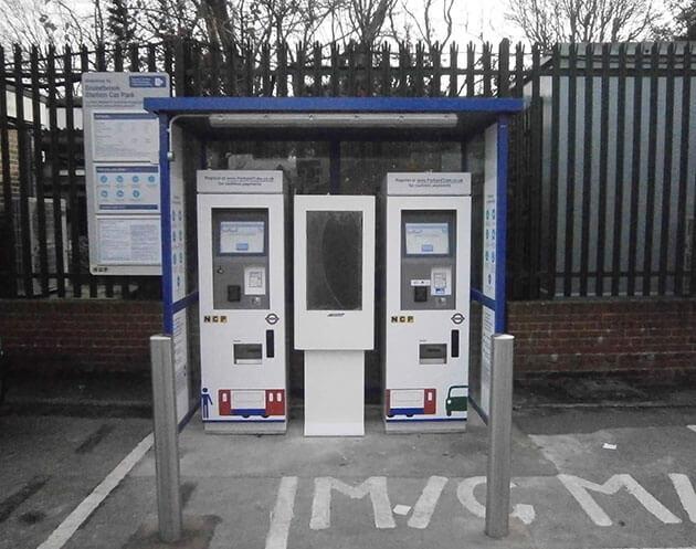 La signalisation numérique parking station de paiement