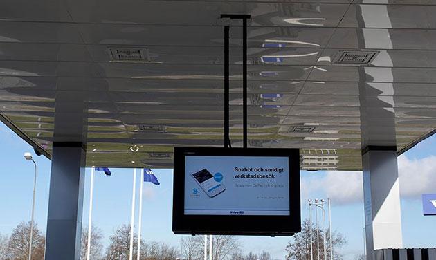 boîtier de signalisation numérique LCD, suspendu au plafond
