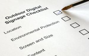 digitaux panneau affichage liste