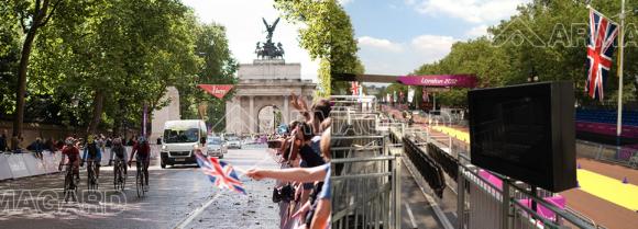 Des caissons Armagard pour les jeux olympiques à Londres.