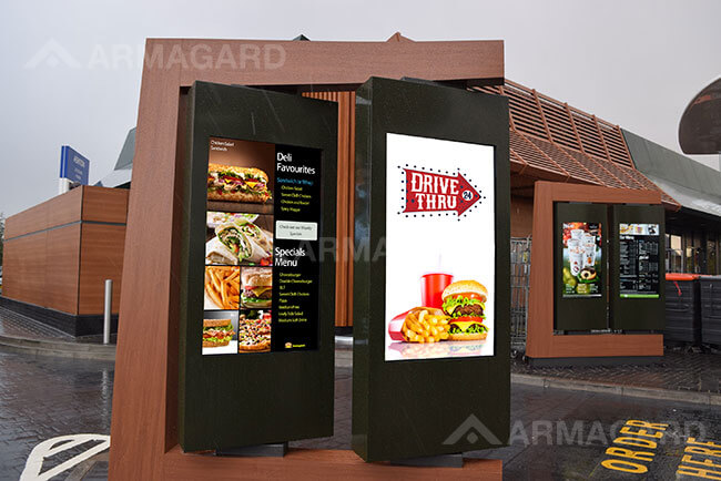 Les cartes de menu Digital Drive Thru