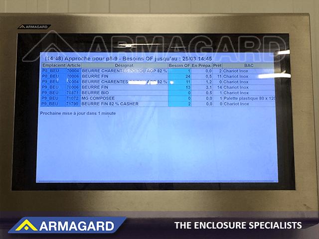 Chamboîtier de signalisation numérique LCD encastré