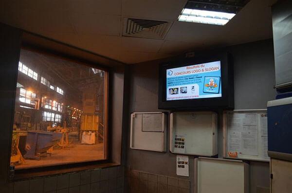 signalisation numérique dans l'atelier