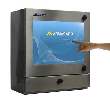 boîtier d'ordinateur étanche à écran tactile