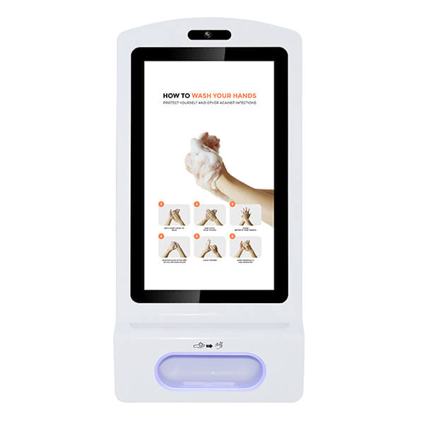 Affichage numérique de désinfectant pour les mains - Vue de face