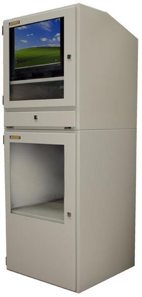 Armoire informatique industrielle protection int gr e tout en un aux normes ip54 comprenant un - Armoire informatique industrielle ...