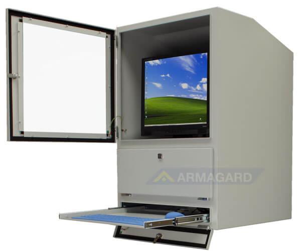 armoire de protection informatique protection ip54 pour ordinateur et clavier protection. Black Bedroom Furniture Sets. Home Design Ideas