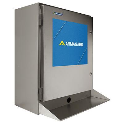 Ordinateur etanche industriel - avec tablette pour le clavier ou clavier à membrane