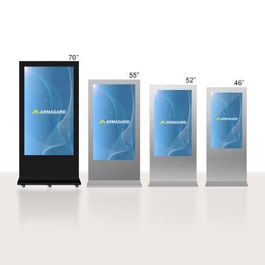 Totem publicitaire exterieur digital totem publicitaire for Lecteur biometrique exterieur