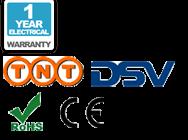 Garantie de 1 ans, livraison, CE et les logos RoHS