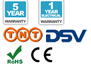 Garantie de 5 ans, livraison, CE et les logos RoHS